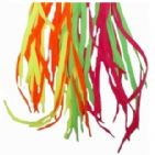 ORANGE Colour Shoelaces - Bright Coloured Neon Flat Laces 100cm